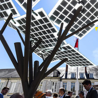 Solar pump use power tree with USB charger for urban transformation