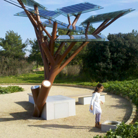 Solar Tree-Best Quality China Manufacturer Solar Urban Furniture Bench Park